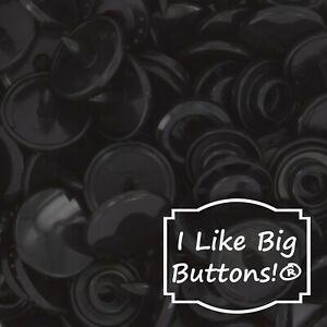 Black KAM Plastic Resin Snaps Crafts Baby Cloth Diapers Bib CHOOSE SIZE/QUANTITY