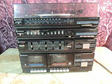 Vintage Hitachi Stereo Receiver w/Dual Cassette Deck & Equalizer,Record Player