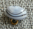 Antique Vtg Glass Button Paperweight Charmstring  Aprx 9 16 1002 B