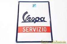 """VESPA Relief-Blechschild """"Servizio"""" - 40x30cm - Email Emaille Piaggio Service"""