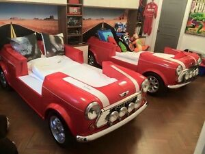 Childs Dream Bed Mini Cooper style Drive N Dream Bespoke Car furniture Single