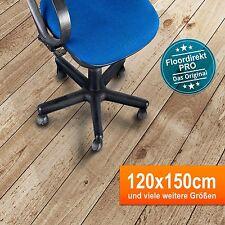 Bodenschutzmatte 120x150cm für Hartböden aus Polycarbonat | Farbe: Transparent