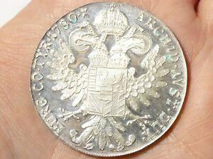 1780 Austria Maria Theresa 1 Thaler Silver Coin Bullion Restrike 28g # 93
