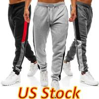 US Men Casual Sport Pants Sweatpant Loose Gym Tracksuit Jogging Joggers Trousers