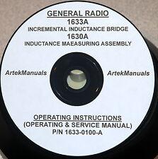 General Radio 1633 A Inductance Bridge Amp 1630 A Fixture Operatingservice Manual