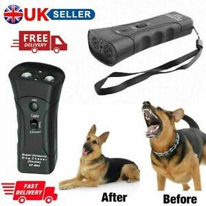 Pet Dog Gentle Ultrasonic Anti Barking Pets Repeller Trainer Device LED Light UK
