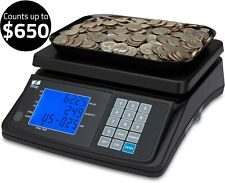 Coin Counting Scale Money Cash Weigh Machine Currency Counter Checker Usd Zzap