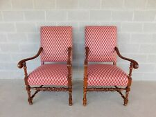 Southwood Jacobean Style Arm Chairs - a Pair