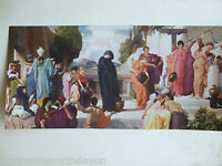 ANTIQUE PRINT C1930'S CAPTIVE ANDROMACHE FREDERICK LORD LEIGHTON MYTHOLOGY ART