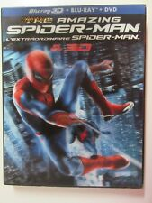 The Amazing Spider-man 3D Blu-ray Region Free With Lenticular Slipcover New