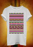 Ethnic Aztec Print Funny Men Women Unisex T Shirt Tank Top Vest 1082