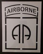 "U.S. US 82nd 82 Airborne 8.5"" x 11"" Custom Stencil FAST FREE SHIPPING"