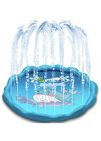 """60"""" Whale Sprinkler Mat, Inflatable Pool for Outdoor Games, Wading, Splash Pad"""