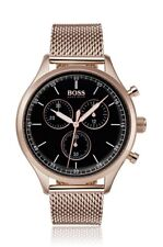 NEW HUGO BOSS HB 1513548 MENS ROSE GOLD COMPANION WATCH - 2 YEAR WARRANTY