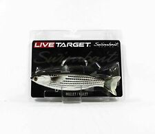 Live Target MUS141MS717 Swimbait Mullet 5.5 Inch Silver Black (9228)