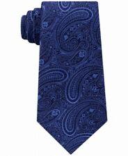 Michael Kors Men's Navy Blue Medium Paisley Skinny Slim Neck Tie Silk $69 328