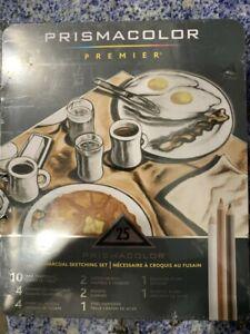 Prismacolor 24262 Premier 25 Piece Charcoal Sketch Set In Reusable Metal Tin