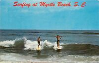 Myrtle Beach South Carolina SC Surfing Scene Postcard