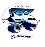 STICKER Boeing 787 Dreamliner round 3 inch diameter chubby / pudgy