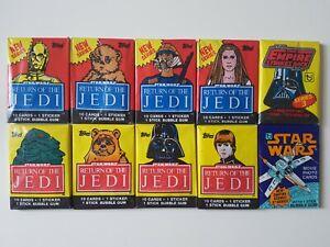 Vintage Topps Star Wars Wax Packs - Series 5, ROTJ & ESB Sealed