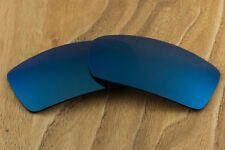 Dark Navy Blue Polarized Mirrored Sunglass Replacement Lenses for Oakley Gascan