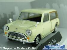 MORRIS AUSTIN MINI TRAVELLER MODEL CAR VAN 1:43 SIZE CREAM ESTATE WOODY T3