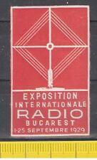 Vignette Exposition Internationale Radio Bucarest 1929 ** Rumänien Bukarest