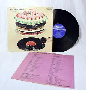 THE ROLLING STONES Let It Bleed LP London Records NPS-4 vinyl album Lyrics