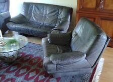 Leder Sofa Set 3-2-1 Rolf Benz Schwarz