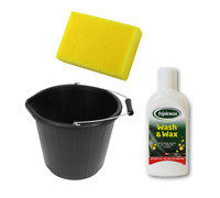 1L Triplewax Car Wash & Wax Shampoo Set Including 15L Bucket & Cleaning Sponge