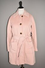 GAL MEETS GLAM NEW $340 Hadley Belted Wool Blend Coat in Mauve Medium