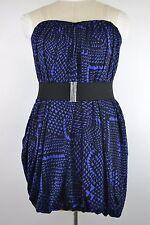 NEW BCBG MAXAZRIA WOMENS SIZE MEDIUM BUBBLE DRESS REGAL BLUE BLACK MSRP $218 NWT