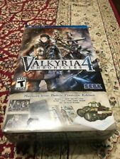 Valkyria Chronicles 4 Collectors Edition New PS4 JRPG