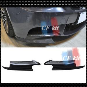 Fit For BMW E90 M3 E92  E93 M3 2008-2013 Carbon Fibre Front Bumper Lip Splitter
