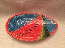 Italy Ceramic Pottery BEAUTIFUL Watermelon Tray Dish Multi Color Oval Shape