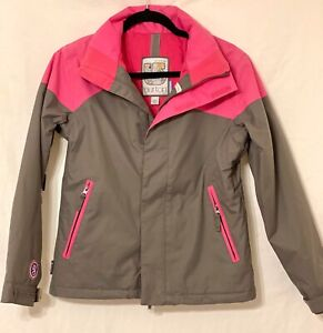 Women's Pink/Gray Burton Ski Snowboarding  Parka-Coat-Jacket ~ Extra Small