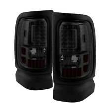 Dodge 94-01 Ram 1500/2500/3500 Smoked LED Tail Lights Brake Lamps Pair Set V2