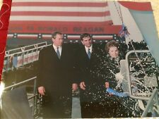 RONALD REAGAN PHOTO, with the USS Ronald Reagan aircraft carrier, with his Wife!