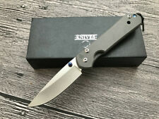 All CNC D2 Blade Sebenza 21 Style Full TC4 TITANIUM Handle Folding knife CR10