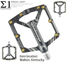 Aluminium Road MTB Mountain XC AM Bike 4 sealed Bearing Pedals Flat Pedal Black