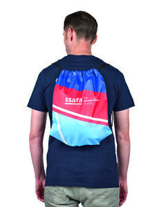 Drawstring Backpack Rucksack Bag Unisex SSAFA for Sport Gym Laundry PE School