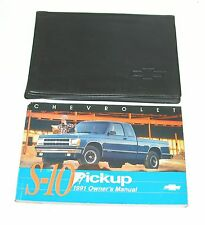 1991 Chevrolet S-10 S10 Pickup Factory Owners Manual Portfolio