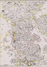 Alte Landkarte SCHLESWIG Flensburg Tondern Alsen Aerö Röm Sylt Föhr Fehmarn 1844