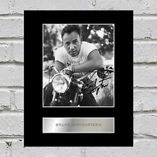 Bruce Springsteen Signed Mounted Photo Display #1