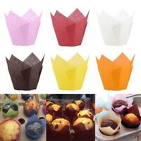 50pcs Paper Cake Cup Cupcake Muffin Liner Case Baking Cup Tray Cake Mold Decor