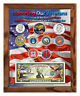 """Honoring Our Veterans Colorized Coin & Currency Set in 8"""" x 10"""" Frame"""