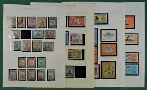 JORDAN STAMPS SELECTION ON 9 PAGES  (K74)