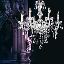 Elegant Chandelier 6 Lamps Crystal Glass Ceiling Light Antique Style Fixture E14
