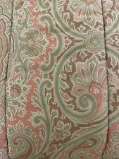 Ralph Lauren Paisley Brown Orange Tan Green Twin Comforter