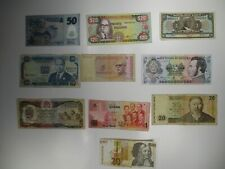 Set of 10 Foreign Banknotes World Paper Money Currency Collections & Lots